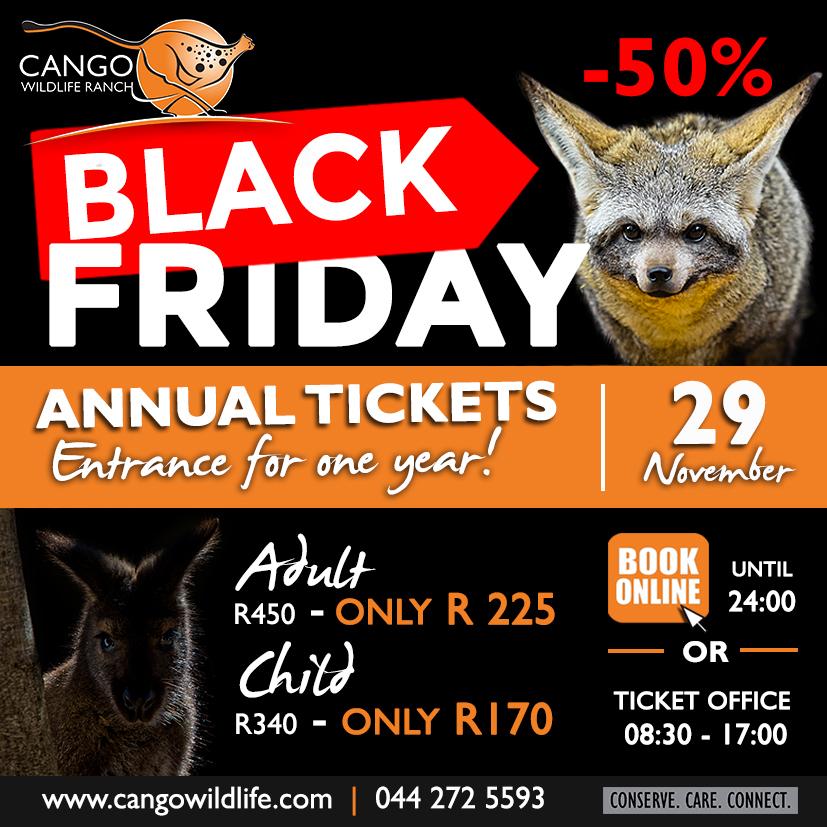 BLACK FRIDAY | Annual Member Tickets - Cango Wildlife Ranch